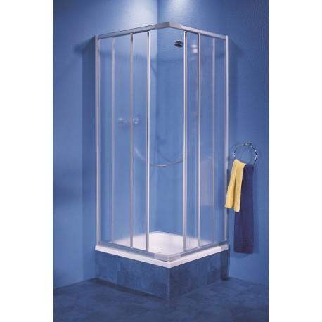 Kabina AQUAFORM Solid 90 kwadratowa regulowana profil chrom-mat szkło crepi