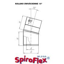 Kolano TURBO SPIROFLEX 60/100/15° dwuścienne