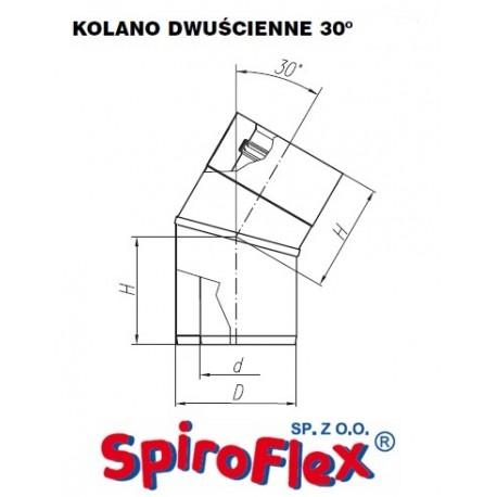 Kolano TURBO SPIROFLEX 60/100/30° dwuścienne