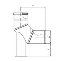 Kolano TURBO SPIROFLEX 80/90° z podstawką
