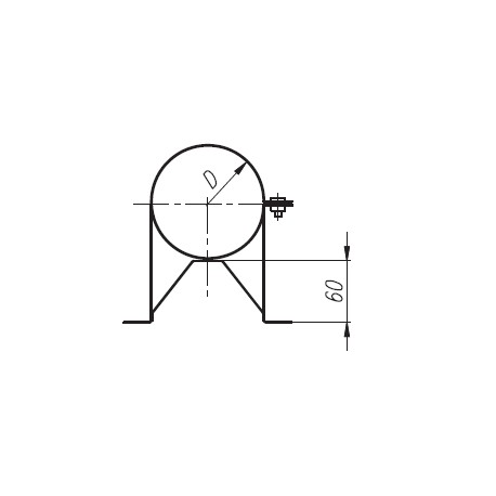 Obejma SPIROFLEX TURBO 80/125 dystansowa