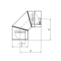 Kolano TURBO SPIROFLEX 80/125/45° dwuścienne
