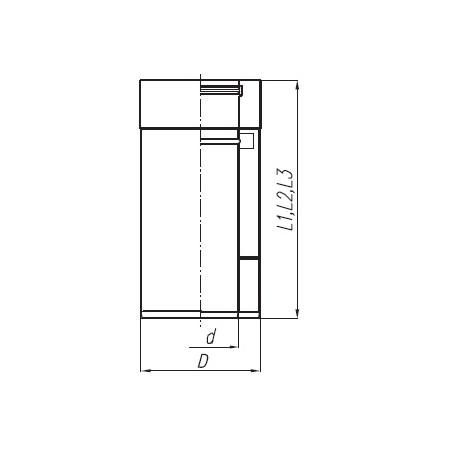 Rura TURBO SPIROFLEX 80/125  dwuścienna 1 mb