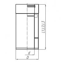 Rura TURBO SPIROFLEX 80/125  dwuścienna 0,5 mb