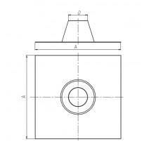 Przepust dachowy SPIROFLEX TURBO 80 0 stopni