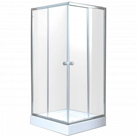 Kabina kwadratowa PARLA INVENA 90 chrom szkło czyste